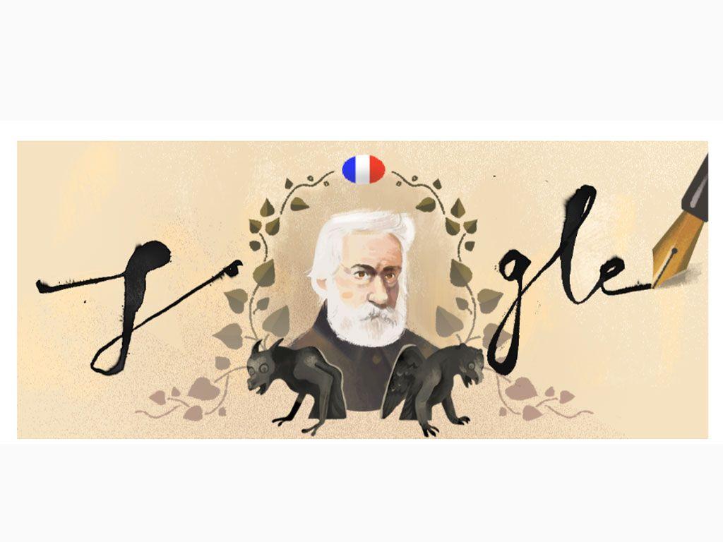 30 juin 2017 : un doodle en l'honneur de Victor Hugo