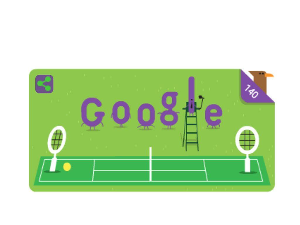 3 juillet 2017: un doodle pour célébrer les 140 ans du tournoi de Wimbledon
