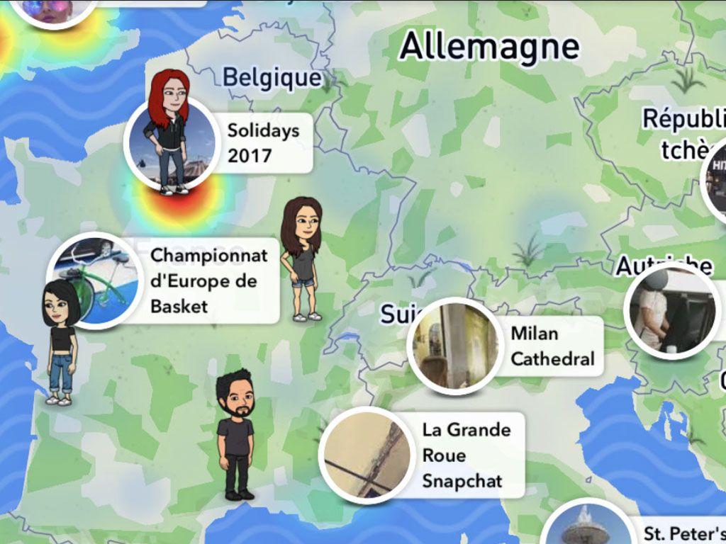 Suivez géographiquement vos amis avec Snapchat !