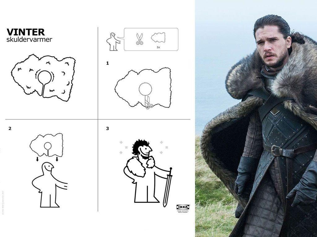 Ikea sort une notice pour se fabriquer la fourrure de Jon Snow