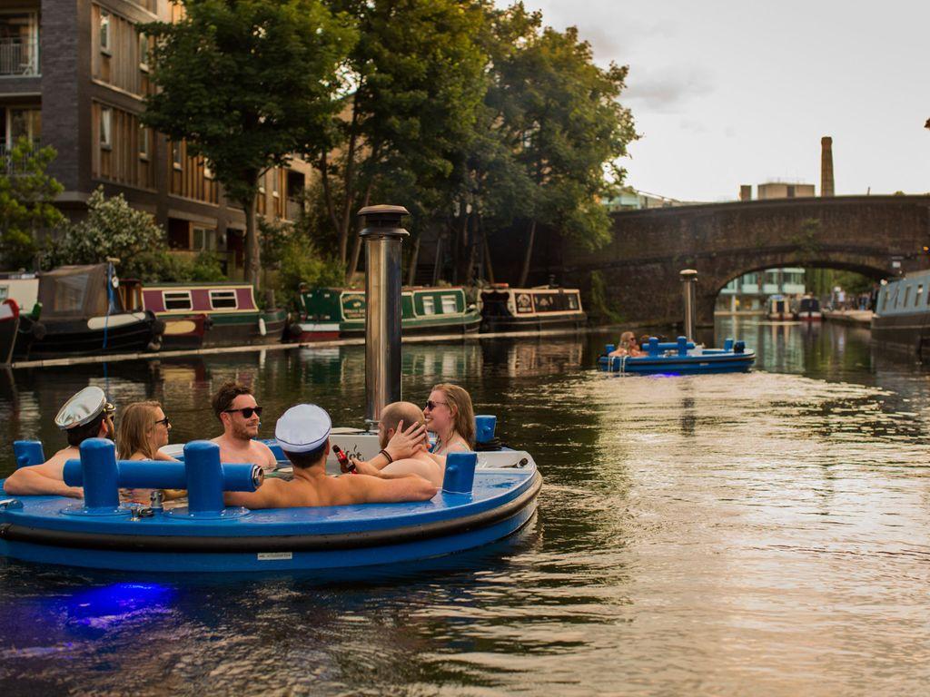 Visiter Londres dans un jacuzzi flottant, c'est possible !