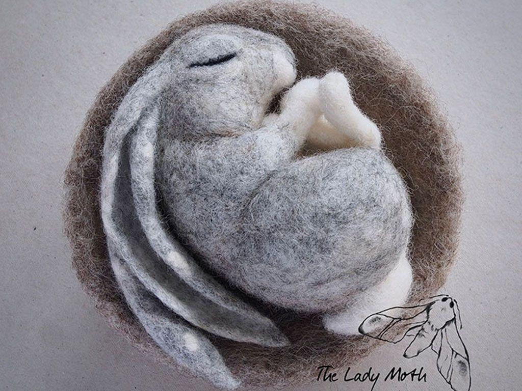 Les animaux en laine cardée de Lady Moth
