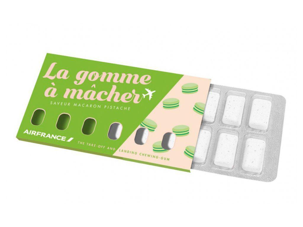 J'ai testé : les chewing-gums macaron et crème brûlée signés Air France