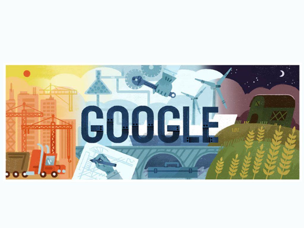 1er mai 2017 : un doodle pour le Journée Internationale des Travailleurs