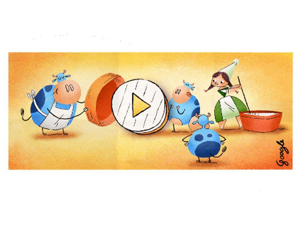 28 avril 2017 : un doodle pour rendre hommage au camembert et à Marie Harel, son inventrice
