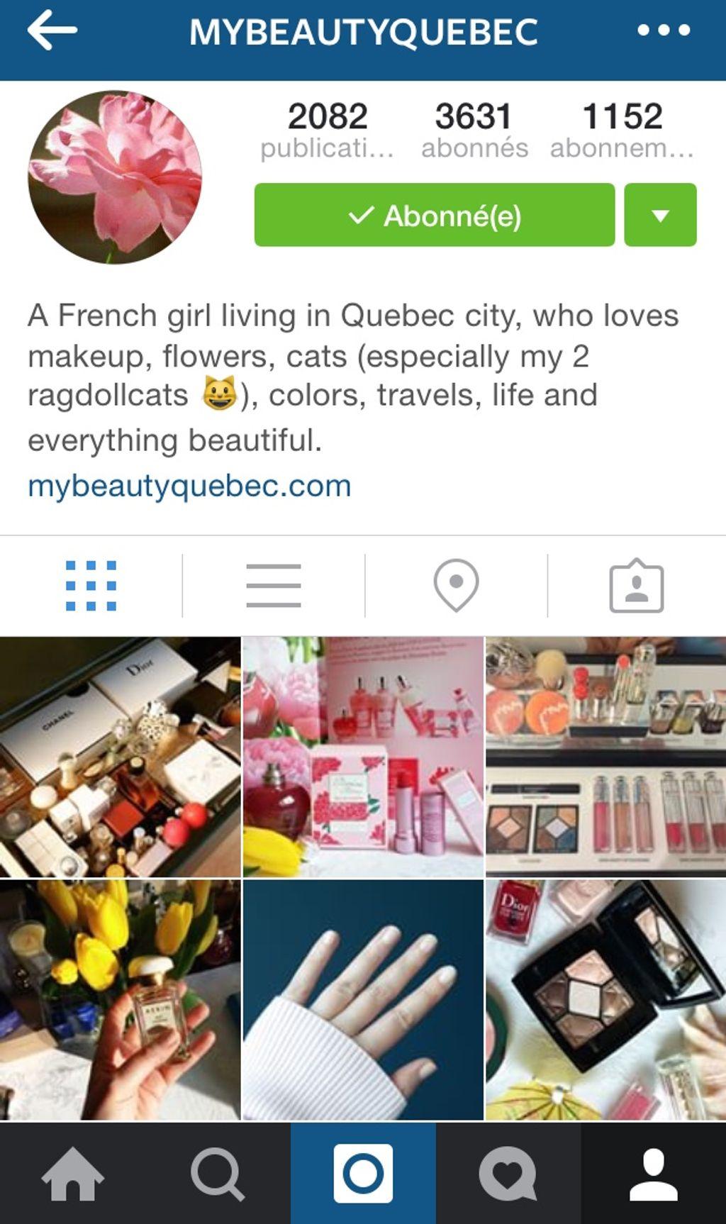 5 comptes beauté que j'aime suivre sur Instagram