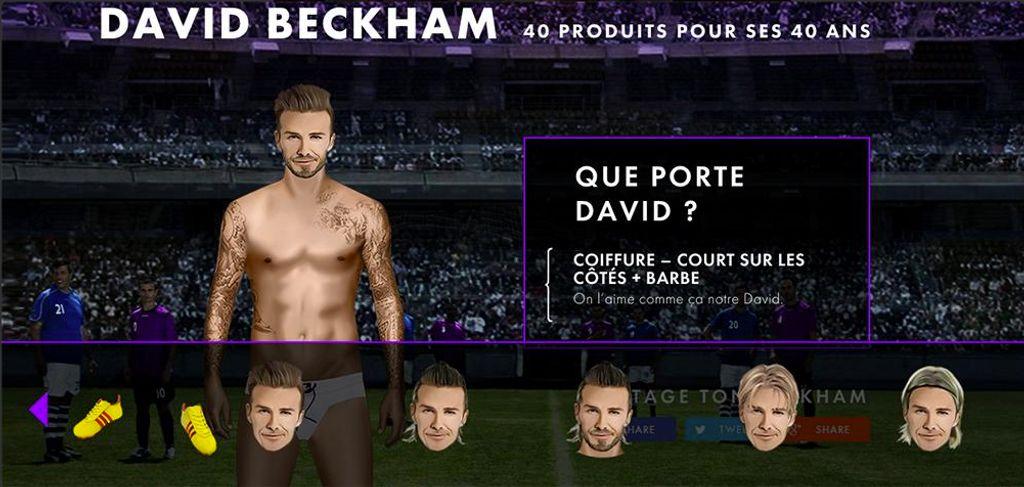 David Beckham a 40 ans, on le fête en le déshabillant !