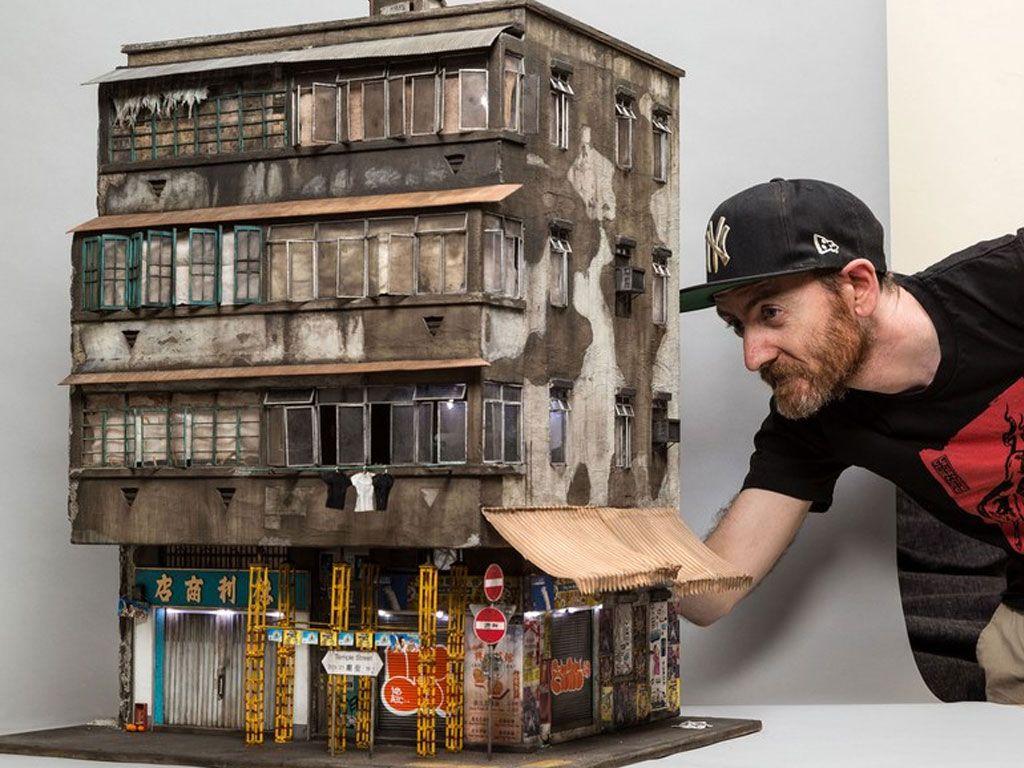 Des maquettes de paysages urbains d'une minutie incroyable