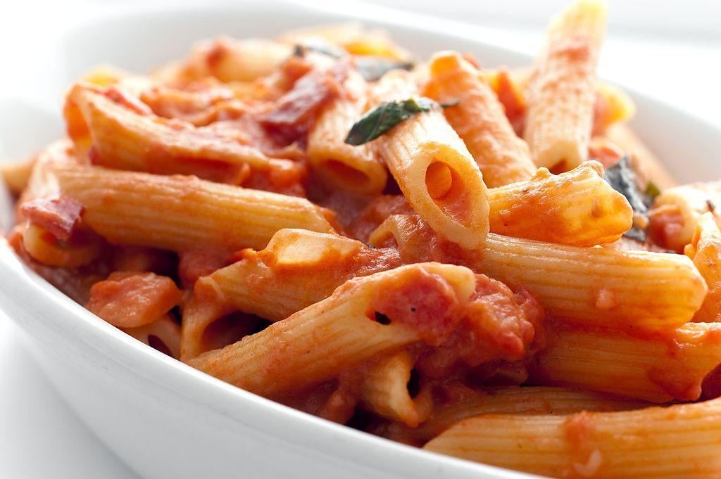 Des Penne à la sauce tomate comme en Italie