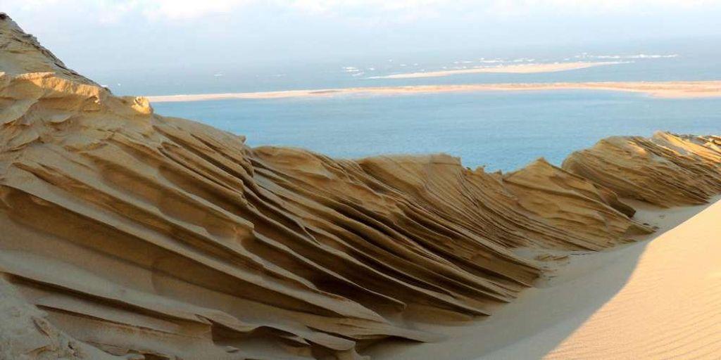Exceptionnel : la dune du Pilat sculptée par le froid et le vent