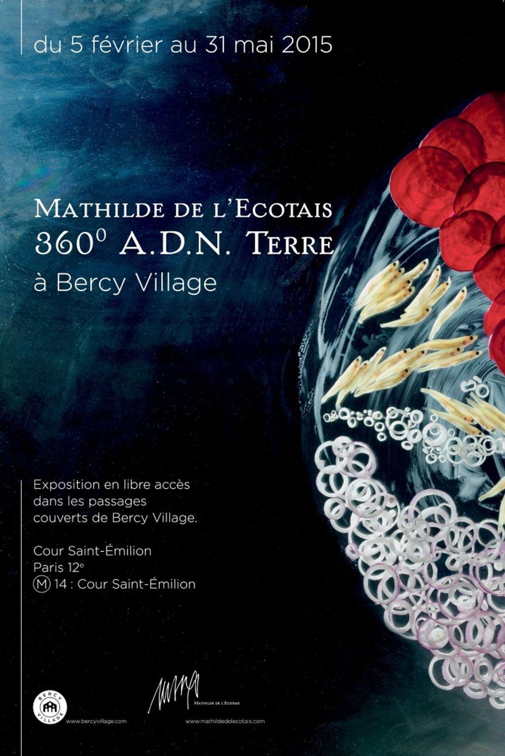 Exposition Mathilde de l'Ecotais, 360° ADN Terre