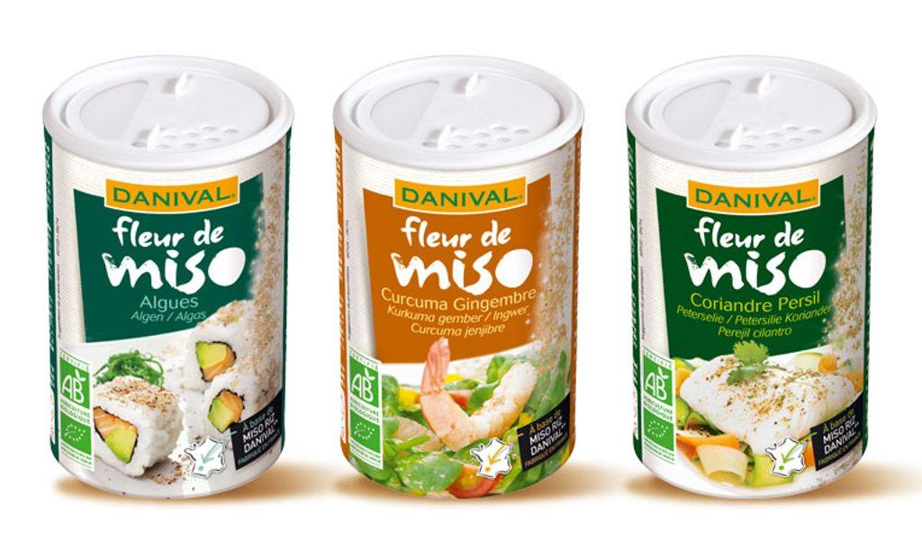 « Fleur de Miso » : Danival crée le miso à saupoudrer à travers 3 saveurs originales & naturelles