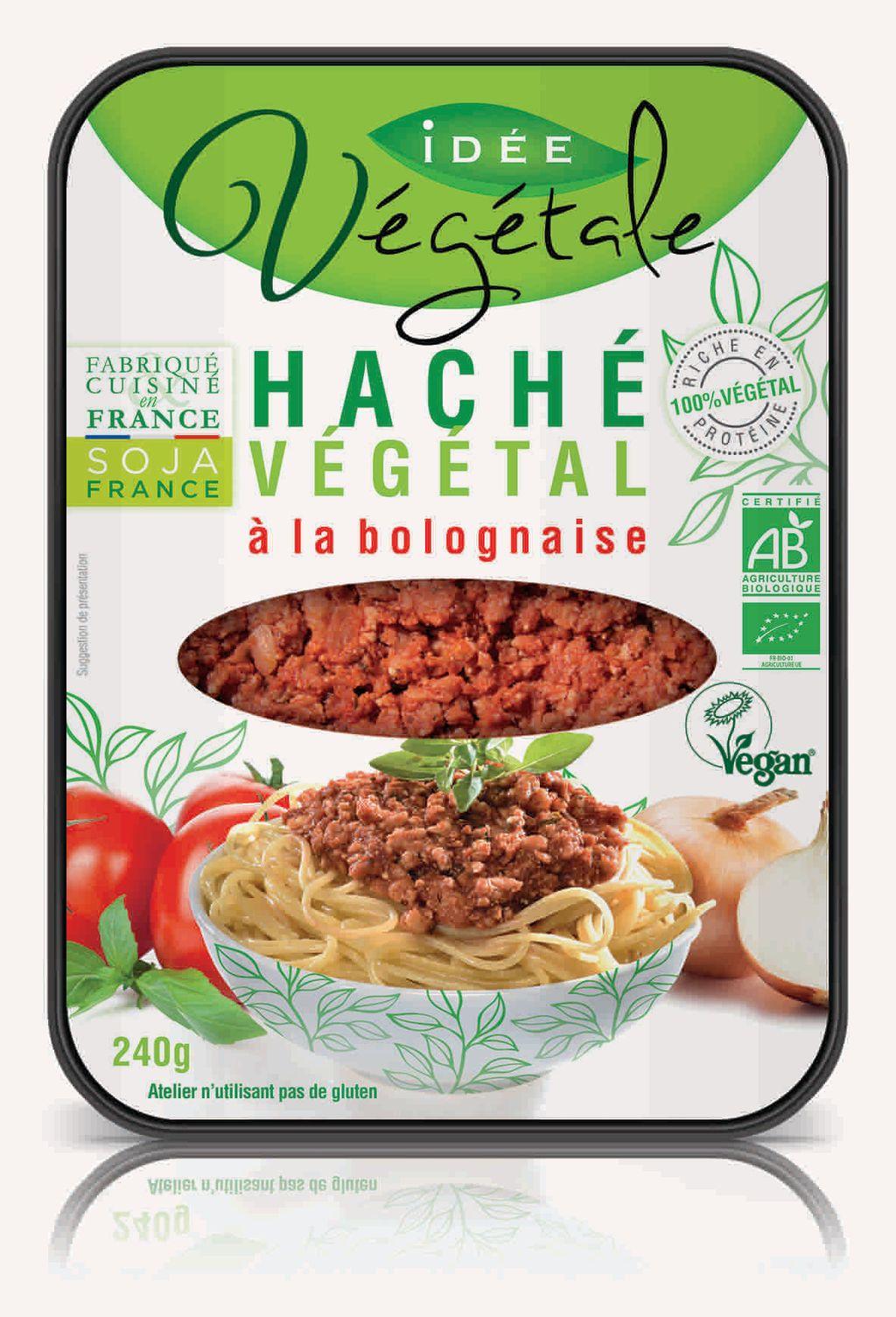 J'ai testé le Haché Végétal à la Bolognaise d'IDEE VEGETALE