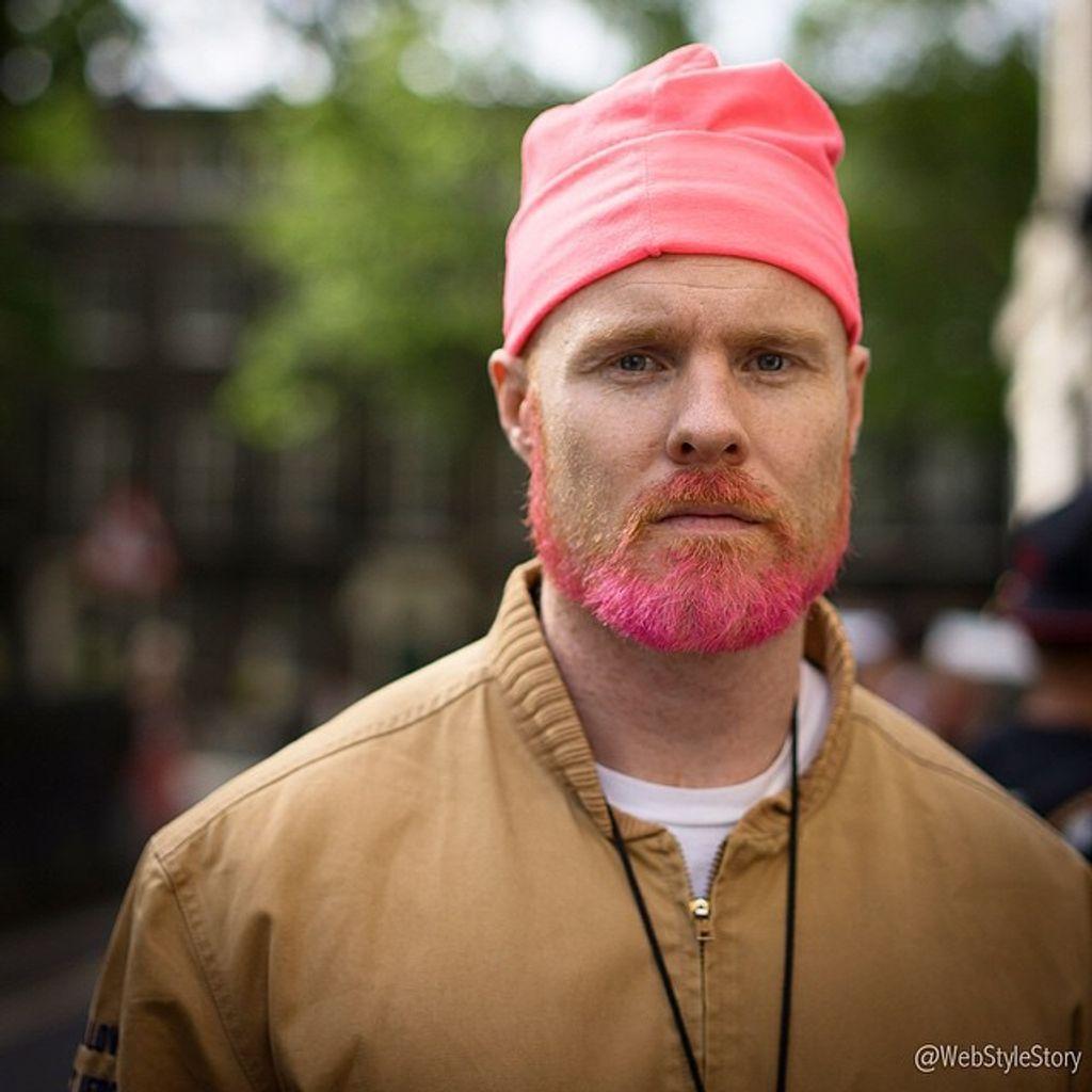 La barbe colorée, mon nouveau coup de coeur chez les mecs