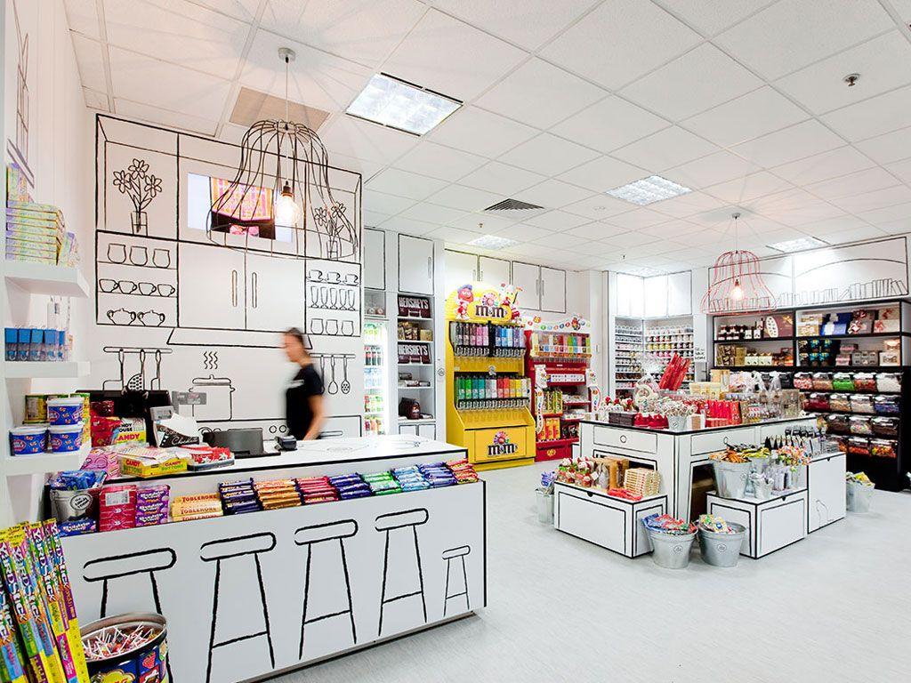 Le super design de la boutique Candy Room !