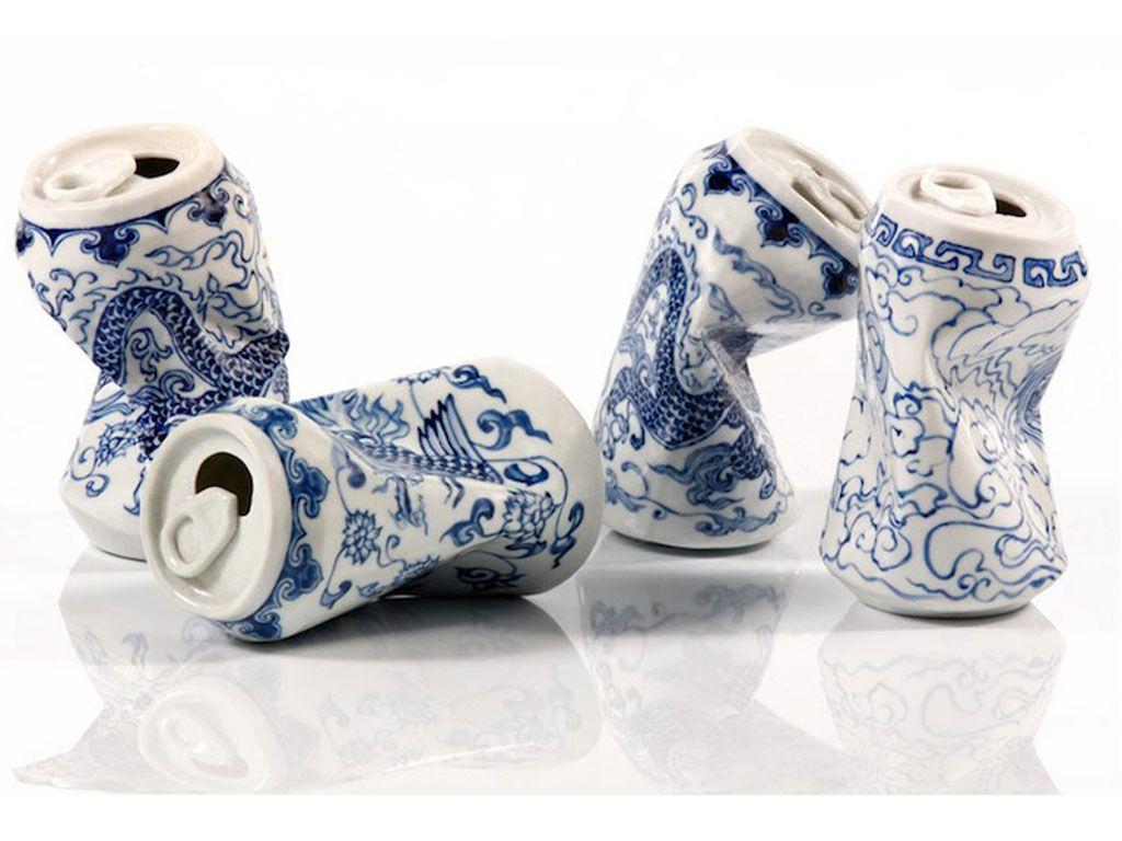 Les canettes en céramique de l'artiste Lei Xue, entre tradition et modernité