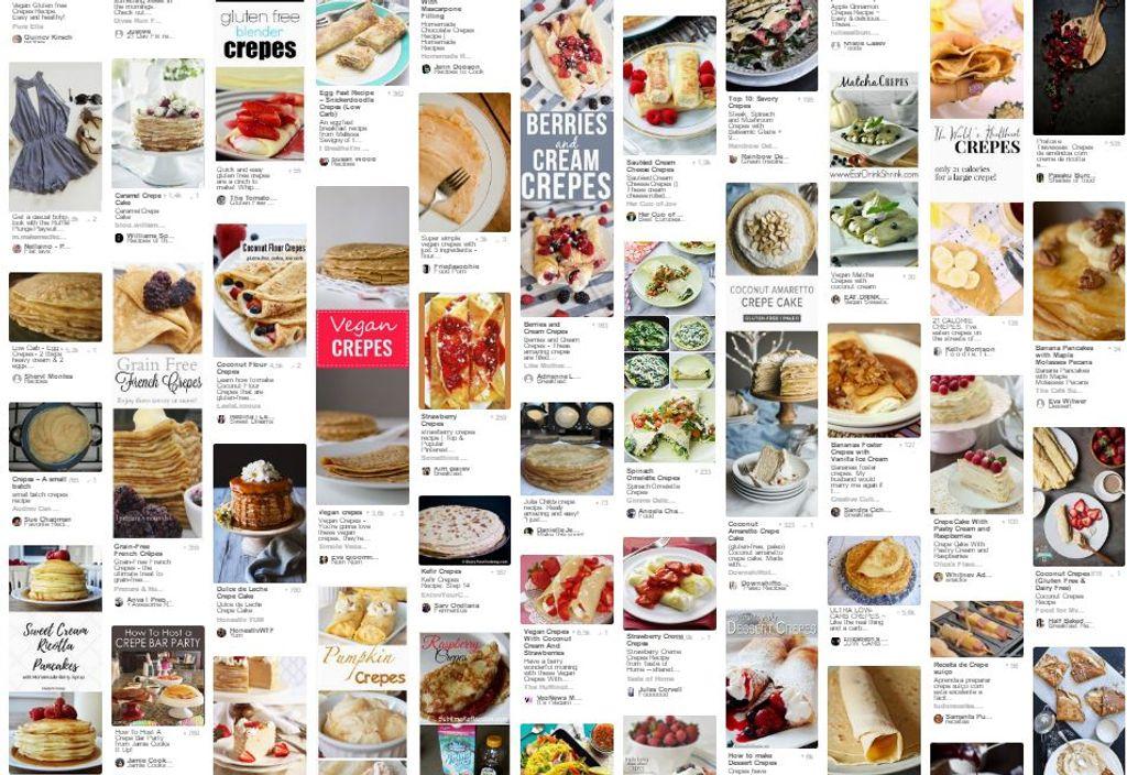 Les meilleures recettes de crêpes de Pinterest