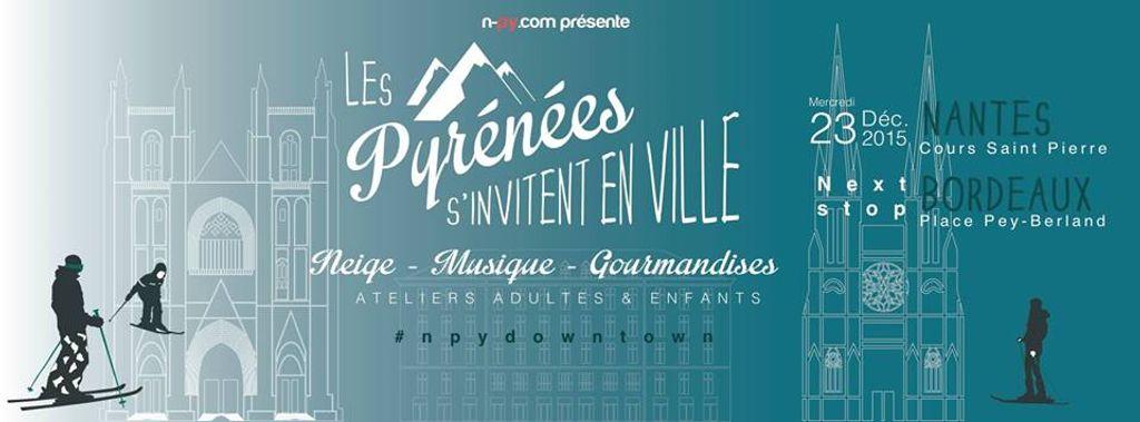Les Pyrénées amènent la neige à Nantes le 23 décembre