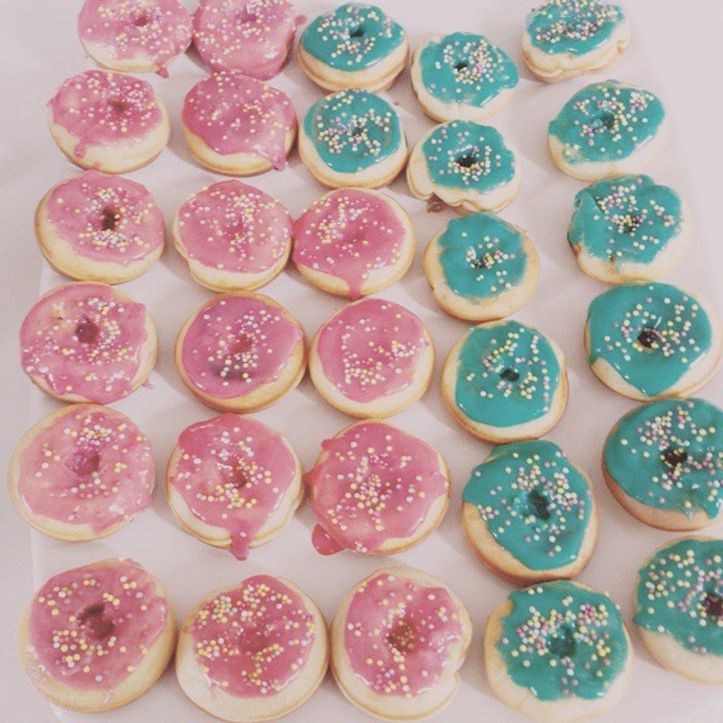 Mini-Donuts au chocolat blanc