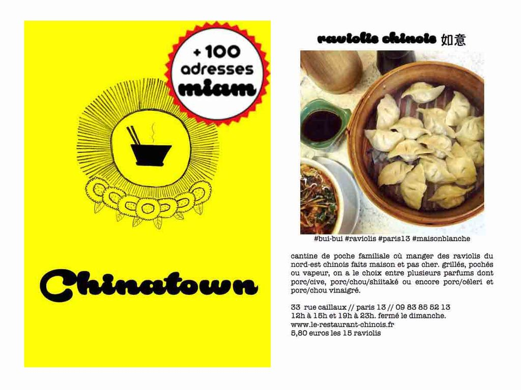 Mon Guide des Chinatowns de Paris