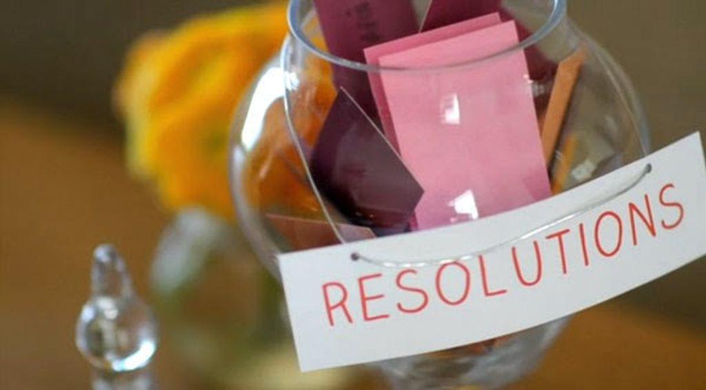 Nouvelle année, nouvelles résolutions ?