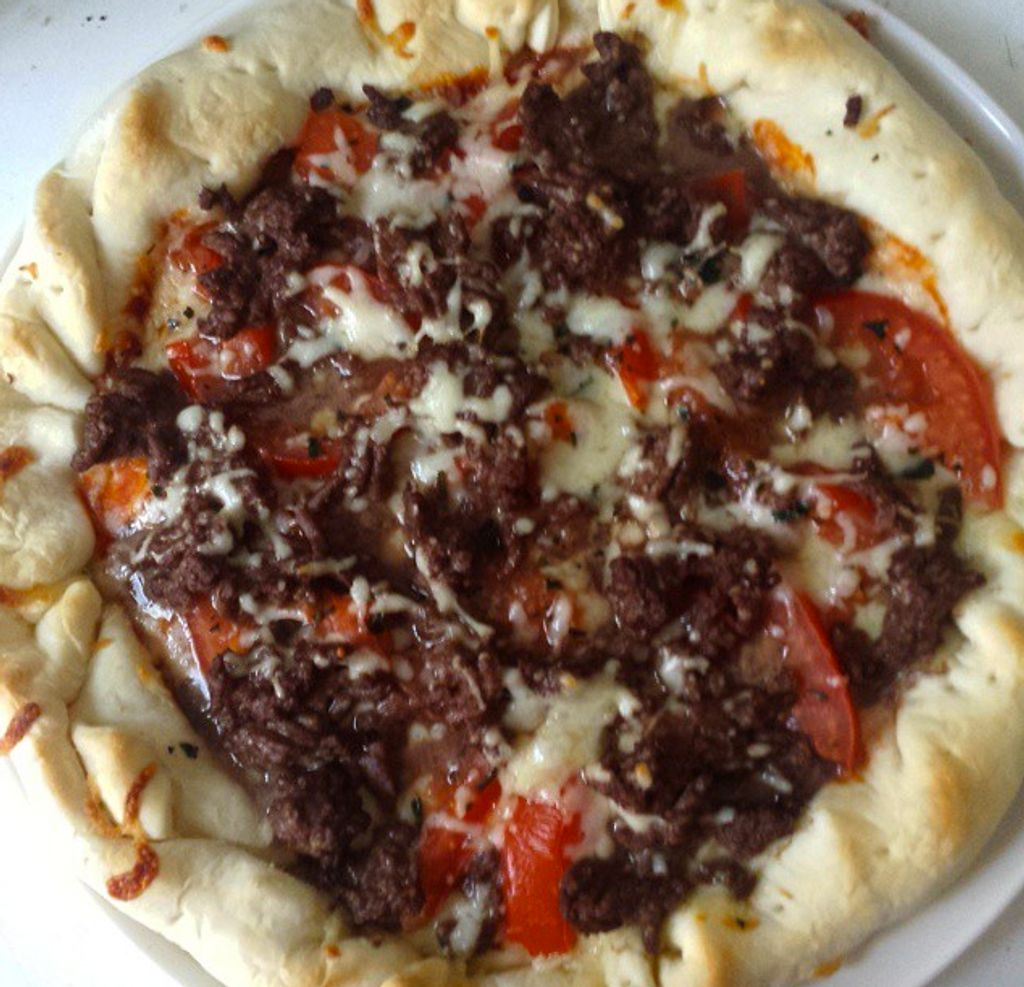 Pizza façon burger