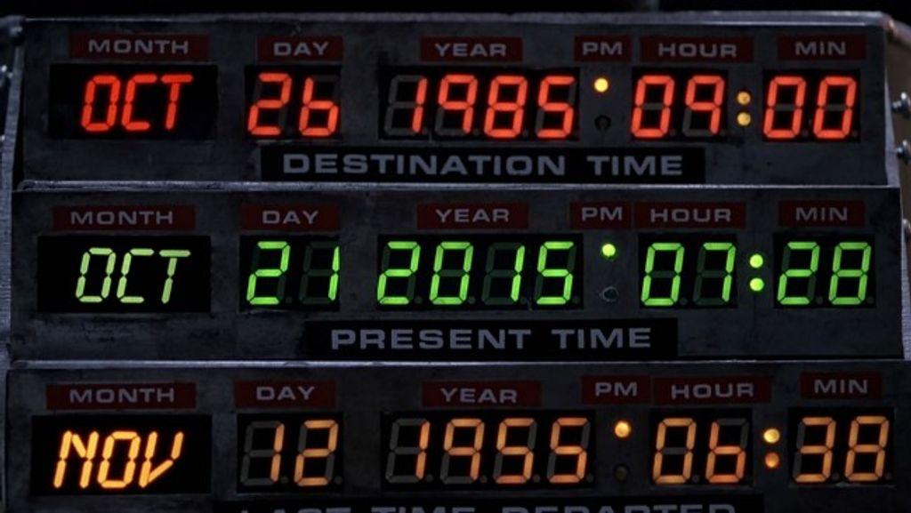 Retour vers le futur II, on y est, c'est aujourd'hui !