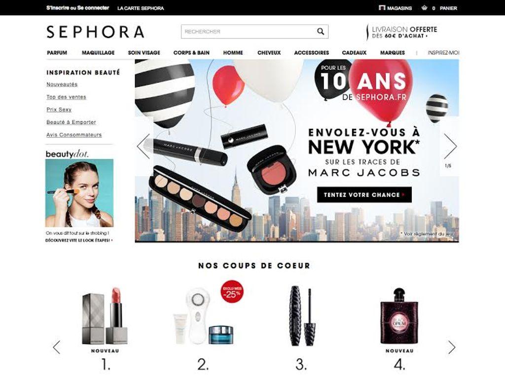 Sephora.fr fête ses 10 ans !