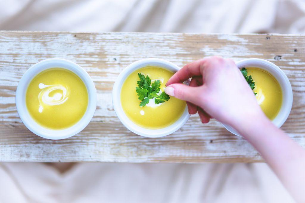 Soupe de courgette légère, pour l'été