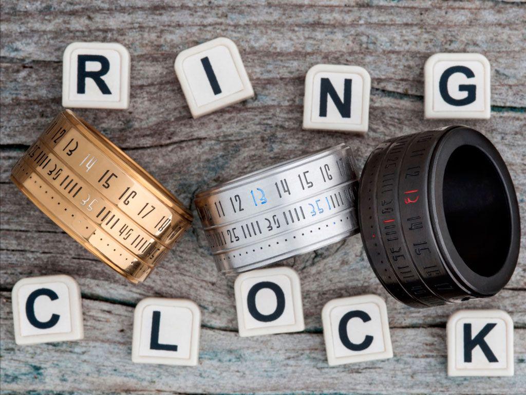 The ring clock, la bague qui vous donne l'heure