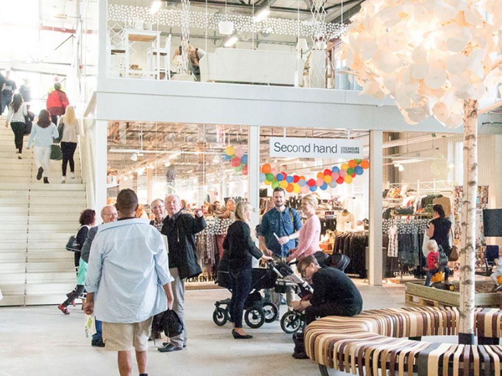 Un centre commercial dédié aux produits recyclés cartonne en Suède
