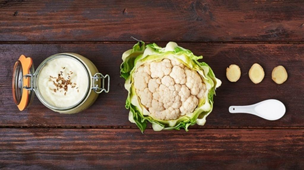 Velouté de chou-fleur au lait de coco