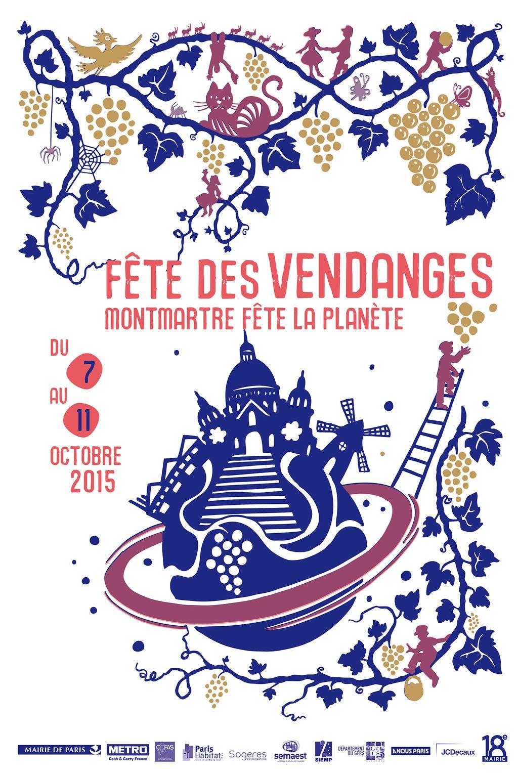 Vendanges de Montmartre 2015 : Vive la planète, vive les vendanges !