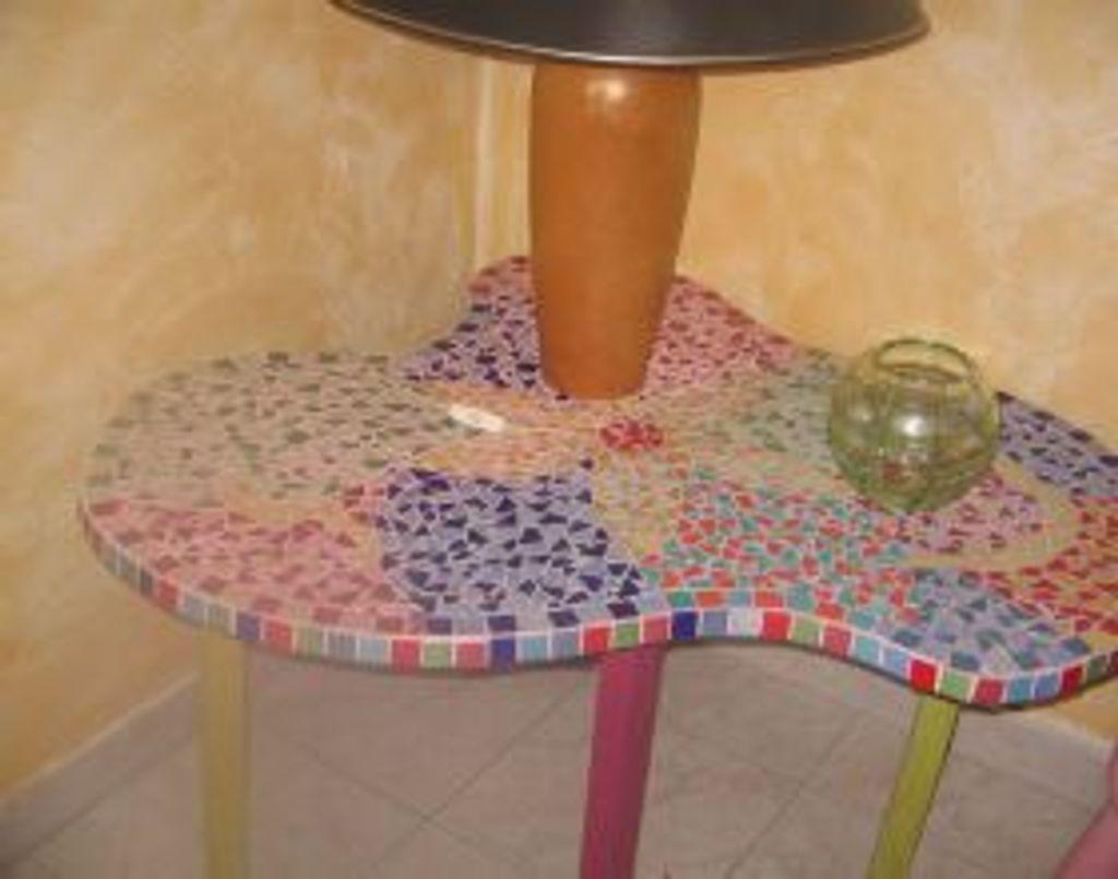 Table basse en mozaique