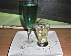 Verrine melon-fromage et soupe angevine assortie
