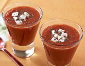 Gaspacho de tomates à la feta