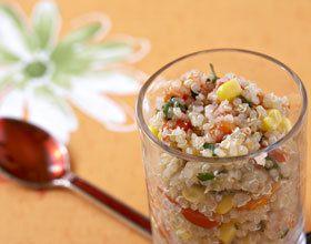 Quinoa aux poivrons et maïs