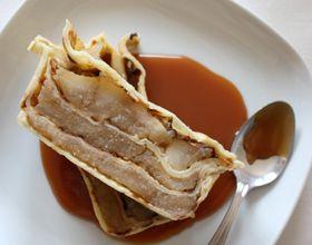 Terrine de crêpes aux pommes vanillées