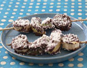 Brochettes gourmandes au chocolat