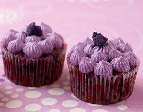 Cupcake myrtille violette
