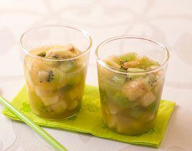 Minestrone de fruits au sirop de réglisse et menthe