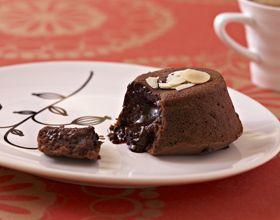 Moelleux chocolat, coeur coulant café