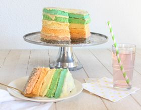 Recette remixée : le Rainbow Cake