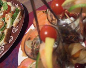 Verrines et blinis au saumon