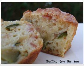 Muffins jambon courgettes et cumin