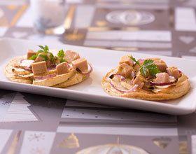 Tartelettes aux pommes et foie gras