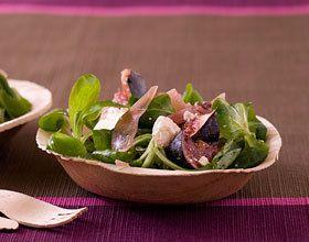 Salade de mâche à la feta et aux figues
