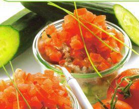 Tartare de légumes aux rillettes de thon