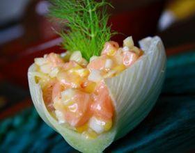 Tartare express au saumon, mangue et fenouil