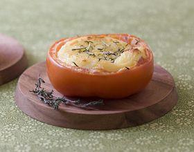 Tomates farcies au chèvre chaud et romarin